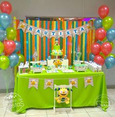 Henry Hugglemonster Party Ideas for a Boy Birthday 2nd Birthday Party Themes, Party Themes For Boys, Baby Boy 1st Birthday, 1st Boy Birthday, First Birthday Parties, Birthday Ideas, Henry Hugglemonster, Bubble Guppies Party, Monster Party