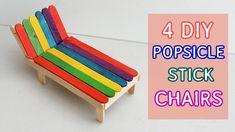 Popsicle Stick Crafts For Kids, Popsicle Sticks, Craft Stick Crafts, Easy Crafts, Plate Crafts, Sticks Furniture, Kids Furniture, Woodworking Furniture, Furniture Plans