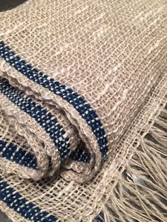 Barbara Pickel - scarf in linen, wool and cottolin.