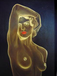 Negative study, Oil painting by Nansy N. Pedersen