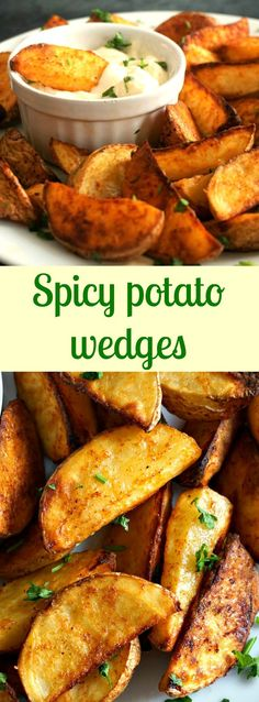 Spicy potato wedges, the best oven-baked recipe