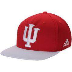 027d25c915abd Men s adidas Crimson White Indiana Hoosiers climalite Sideline Snapback Adjustable  Hat