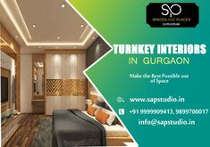 Turnkey Interiors in Gurgaon Kitchen And Bath Design, Space Place, Building A New Home, Top Interior Designers, New Builds, Design Consultant, New Construction, Design Process, Your Design