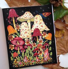 Mushroom party with Daphne.Gallery, Faynn Oliva, and ✨ Let&… Mushroom party with Daphne.Gallery, Faynn Oliva, and ✨ Let's… Painting Inspiration, Art Inspo, Mushroom Paint, Posca Art, Caran D'ache, Guache, Illustration, Hippie Art, Coloring Book Pages