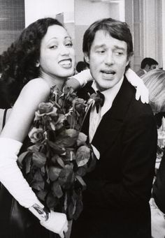 Modeling legend Pat Cleveland and the iconic fashion designer Halston at his studio in Manhattan after the Coty Awards in October 1972. Photo by Ron Galella/WireImage.