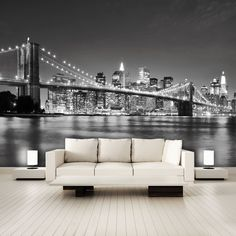 "Fotomurales  I Love New York 105"" 366x254 Manhattan Skyline Papel Pintado   eBay"