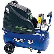 Draper 24978 Oil-Free Air Compressor 24 Litre 230 Volts