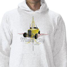 Striped Hi-Boy Roadster Hoodie  Cool pinstripe and hi boy deuce design, Motor City Speed Shop