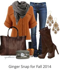 Ginger snap, ginger colors, orange sweater
