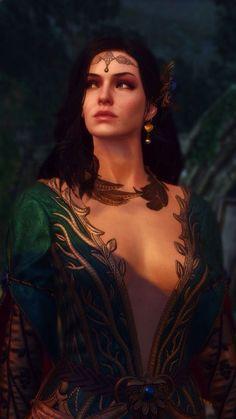Yennefer of Vengerberg game art The Witcher 3, The Witcher Wild Hunt, Witcher Art, Yennefer Witcher, Yennefer Cosplay, Yennefer Of Vengerberg, Fantasy Art Women, Fantasy Girl, Fantasy Characters