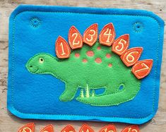 Busy Board Felt Board Busy Book Dinosaur Count Set Learn Teach Math Game Home School Educational Numbers Scales 20 scales labeled 1 thru 20