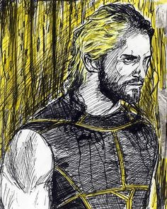 Awaiting the second coming of @wwerollins.... get better soon champ. #art #illustration #drawing #portrait #pen #markers #color #ink #detail #loose #sketch #value #contrast #SethRollins #TylerBlack #undisputedfuture #thearchitect #theshield #wrestlemania #bestforbusiness #curbstomp #pedigree #prowrestling #prowrestler #bestwishes #getbetter #acarone95
