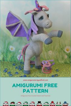 Amigurumi Horse With Wings Free Pattern – amigurumi. Crochet Fairy, Crochet Horse, Crochet Unicorn, Crochet Animals, Crochet Dolls Free Patterns, Amigurumi Patterns, Amigurumi Doll, Horse Pattern, Unicorn Pattern