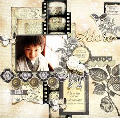 Kaisercraft - Art of Life - Kaori Fujimoto Scrapbook Designs, Scrapbook Page Layouts, Scrapbook Albums, Scrapbook Cards, Kids Scrapbook, Mixed Media Scrapbooking, Scrapbooking Ideas, Picture Layouts, T Art
