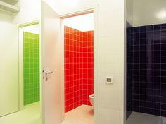 References and case studies > Inspiration > Mosa tiles Toilette Design, School Bathroom, Restroom Design, Tile Manufacturers, Interiores Design, School Design, Wall Tiles, Tall Cabinet Storage, Designer