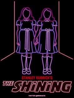 "Love. These. Animated Neon Poster Signs. ""The Shining"""