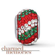 Charmed Memories Swarovski Elements Sterling Silver--Christmas