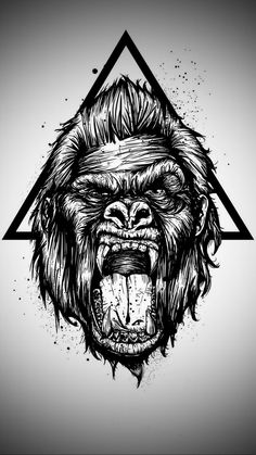 Gorilla Wallpaper by Sixty_Days - 40 - Free on ZEDGE™ now. Browse millions of popular gorilla Wallpapers and Ringtones on Zedge and personalize your phone to suit you. Browse our content now and free your phone Tattoo Sketches, Tattoo Drawings, Body Art Tattoos, Art Sketches, Sleeve Tattoos, Girl Tattoos, Moños Tattoo, Lion Tattoo, Gorilla Tattoo