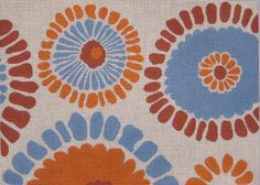 Orange Flower Burst<BR>Floral Handpainted needlepoint