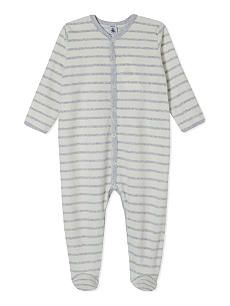 PETIT BATEAU Striped baby-grow 1-24 months
