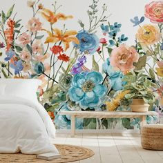 From your bedroom to the kitchen, these growing floral wallpapers are sure to put a spring into your home decor. Woven amongst our floral wallpaper collection, you'll discover this variety of growing flower designs, perfect for bringing some colour into your life on those grey days outside! #floralwallpaper #floraldecor