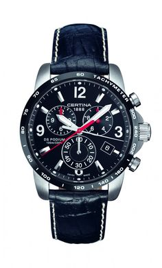 Certina DS Podium Chronograph Leather Strap Watch