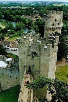 Warwick Castle, Warwickshire Medieval Castle 12 century built around the original design by William the conqueror 1068