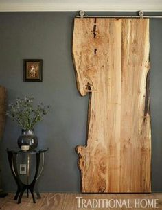 DIY Interior DIY Tür, Innenarchitektur Landscaping Ideas For the person who wants to give their gard Diy Casa, The Doors, Entry Doors, Patio Doors, Front Entry, Live Edge Wood, Diy Home, Diy Interior, Interior Doors