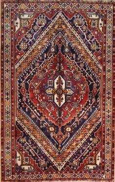Qashqai Wunderschöner Perser Teppich  Handgeknüpfte  266 x 168 cm orient mattan