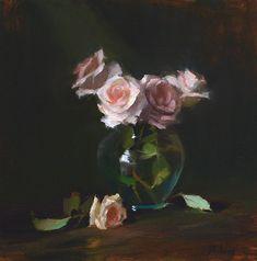 Shimmering Pinks by Kelli Folsom Oil ~ 12 x 12 - Moja strona Art Floral, Acrylic Painting Flowers, Beautiful Paintings, Rose Paintings, Floral Paintings, Oil Painters, Still Life Art, Flower Art, Amazing Art
