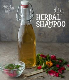 Create and customize your own all-natural DIY Herbal Shampoos by choosing and combining your favorite herbs, oils and essential oils in this easy to make & personalize recipe.
