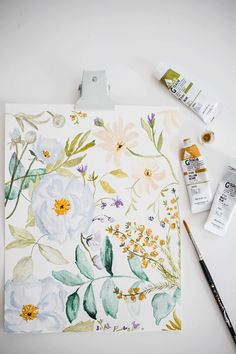Sketchbook 01 : Floral process by Shannon Kirsten Illustration Watercolor Flowers, Watercolor Paintings, Watercolors, Posca Marker, Guache, Watercolor Illustration, Art Inspo, Painting & Drawing, Art Drawings