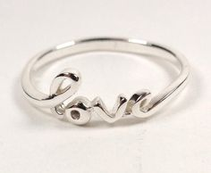 STERLING SILVER ALOHA ISLAND OF LOVE LOVERS GIFT LOVE PROMISE RING SIZE 9
