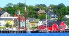 I try to visit friends in Lunenburg, on Nova Scotia's Atlantic coast, a few times each year. Places To Travel, Travel Destinations, Places To Visit, Lunenburg Nova Scotia, East Coast Canada, Rail Car, Motorcycle Travel, New Brunswick, Future Travel