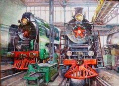 artist Medvedeva Olga, The depot near Moscow