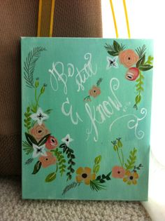 hand painted inspirational bible verse quote by Meghanbranlund Be Still and Know