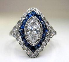 Art Deco Diamond, Art Deco Ring, Art Deco Jewelry, Diamond Jewelry, Victorian Jewelry, Antique Jewelry, Vintage Jewelry, Antique Art, Art Nouveau