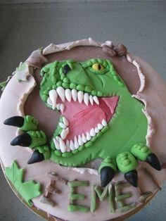 Dinosaur cake By katjuza on CakeCentral.com