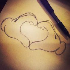Trendy ideas for drawing cute disney sketches mickey mouse Disney Kunst, Art Disney, Disney Love, Disney Mickey, Disney Travel, Cute Disney Drawings, Disney Sketches, Drawing Disney, Cute Love Drawings