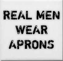 real man wears apron.