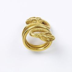 Ring. 100-200, Rome. Gold fashioned into a snake. In the ancient world, snakes were the image of healing and medicine. It was thought to protect the wearer.