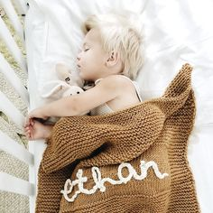 Personalised Baby Blanket Knitting Kit | Stitch & Story - Stitch & Story UK Knitting Kits, Easy Knitting, Knitted Baby Blankets, Merino Wool Blanket, Personalized Baby Blankets, Personalised Baby, Bamboo Knitting Needles, Garters And Stockings, Online Tutorials