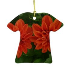 Red Dahlia Ornaments from Zazzle.com $23.95