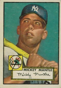 2) 1952 Topps Mickey Mantle