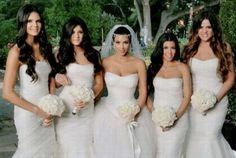 Kardashian wedding clan -- wow they all wore wedding dresses
