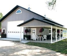 Metal Barn Homes Metal Barn House Contemporary Barn Homes Pole Barn House Plans This Is My Favorite One That Metal Barn Homes Floor Plans Pole Barn Garage, Pole Barn House Plans, Pole Barn Shop, Metal Pole Barns, Shop House Plans, Barn Home Plans, Pole House, Garage House Plans, Cabin Plans
