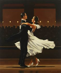 """Take this Waltz"" by Jack Vettriano, Scottish painter, born 1951."