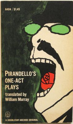 1964 TOMI UNGERER Cover Design - PIRANDELLO'S ONE-ACT PLAYS