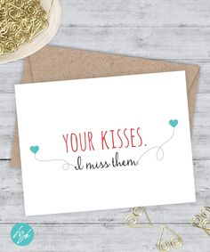 Hey i miss you a little okay maybe a lot greeting card card for i miss you card boyfriend card miss you friend card snarky card quirky greeting card funny birthday your kisses i miss them m4hsunfo