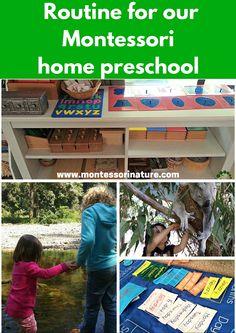Routine For Our Montessori Home Preschool | Montessori Nature | Montessori Inspired homeschooling | Homeschool Daily Schedule Out Montessori Homeschool Classroom